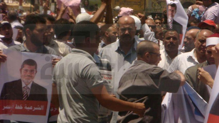 مسيرات حاشدة لأنصار مرسي ببني سويف
