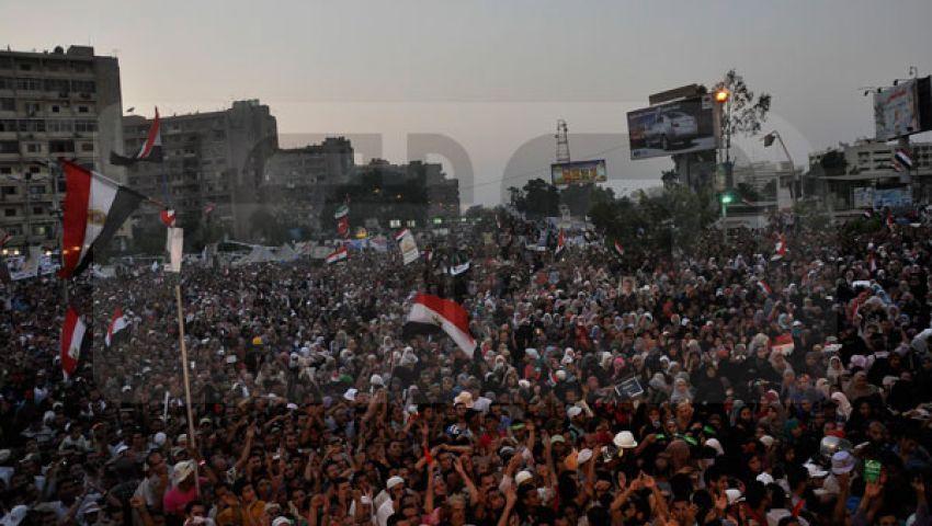المتظاهرون يتوافدون على رابعة للمشاركة في كسر الانقلاب