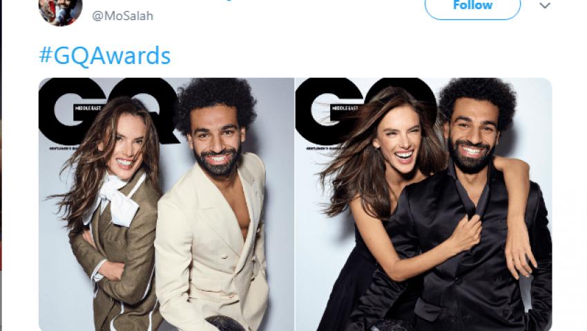صور| تعرف على عارضة الأزياء التى شاركت محمد صلاح غلاف مجلة GQ