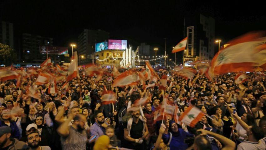 استمرارًا للحراك الشعبي.. آلاف اللبنانيين يواصلون التظاهر
