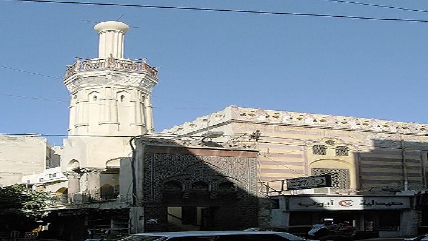 صور| سر الزخارف الرومانية بمسجد تربانة المعلق بالإسكندرية