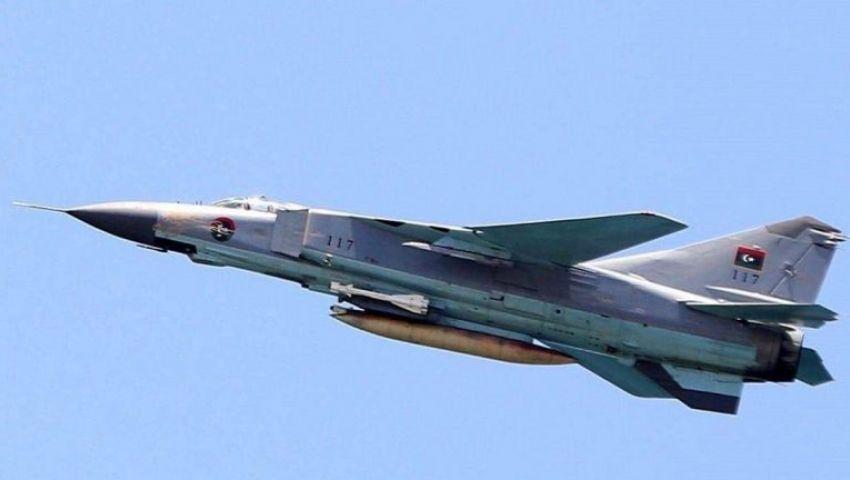 طيران الوفاق يقصف قوات حفتر