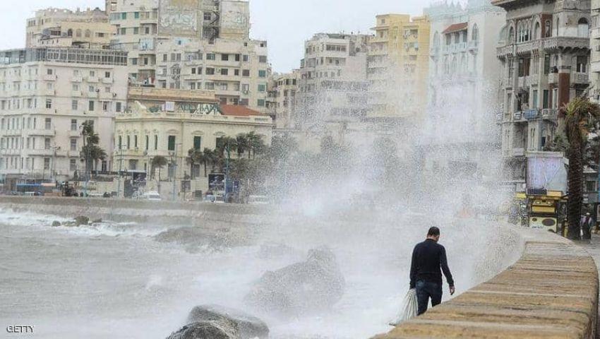 أمطار غزيرة وعواصف.. «الفيضة الكبرى» تضرب الإسكندرية وإعلان الطوارئ