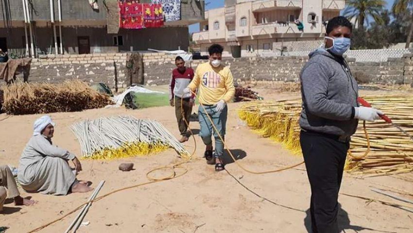 صور| مبادرات وحملات شبابية لتطهير شمال سيناء من كورونا