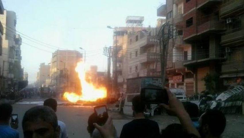 شاهد.. اللقطات الأولى من موقع انفجار المعادي