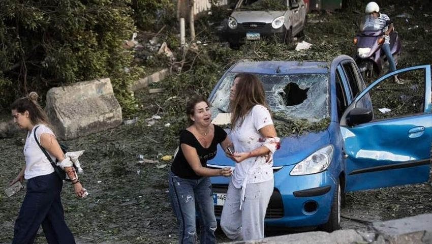 مستشفى ميداني مصري يعالج جرحى انفجار بيروت