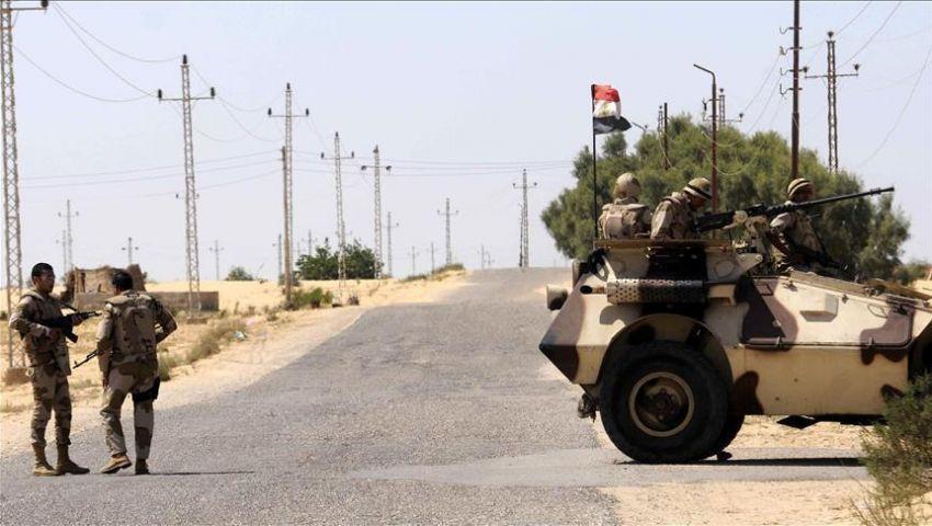 إصابة 3 مجندين في انقلاب مدرعة شرطة بسيناء