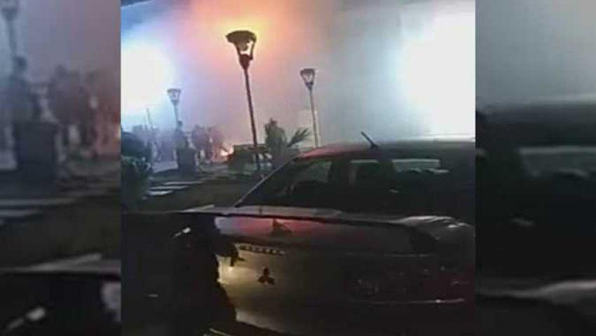 فيديو وصور| حريق بمحل حلواني العبد في أكتوبر.. والنيابة تنتدب المعمل الجنائي