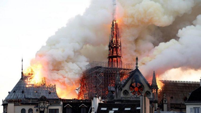 من وراء حريق كاتدرائية نوتردام؟ صحيفة بريطانية تجيب
