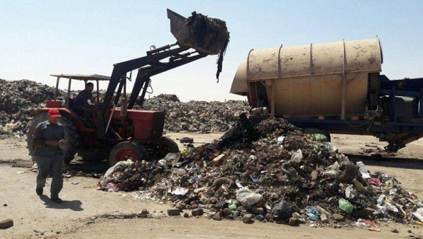 إعادة تأهيل مصنع تدوير القمامة بالمنيا