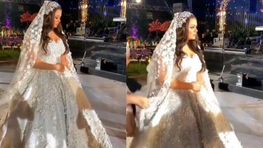 شاهد اللقطات الأولى من حفل زفاف هنادي مهنا