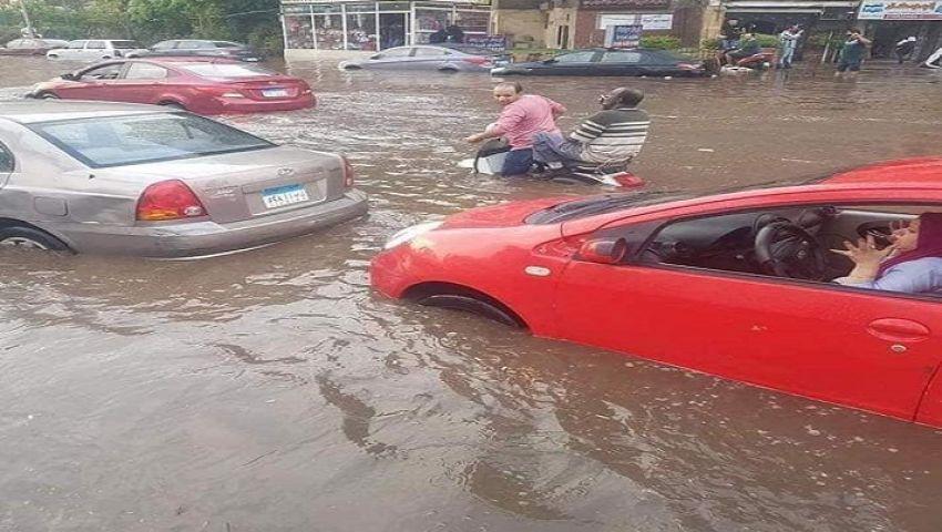 فيديو| «الحكومة» تكشف أسبابغرق الشوارع بمياه الأمطار