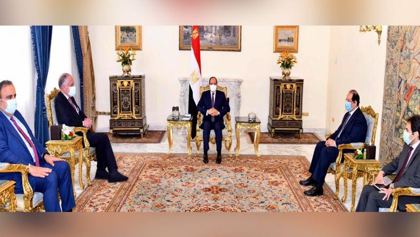 السيسي: يجب استئناف المفاوضات لتسوية القضية الفلسطينية