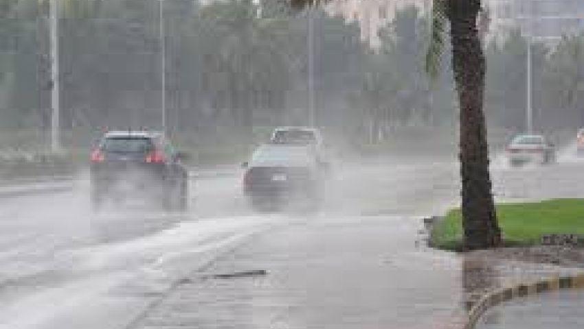 أمطار غزيرة ورياح تصل سرعتها لـ26 كم على القاهرة خلال ساعة