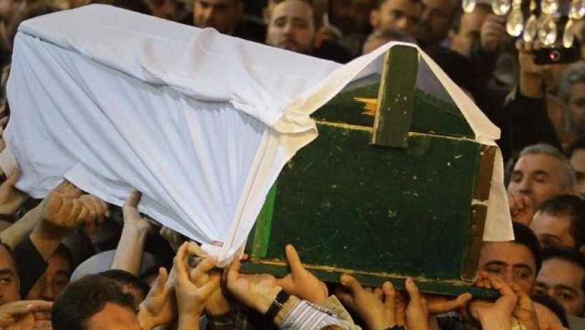 الآلاف يشيعون جثمان المجند مصطفى رجب بالحوامدية