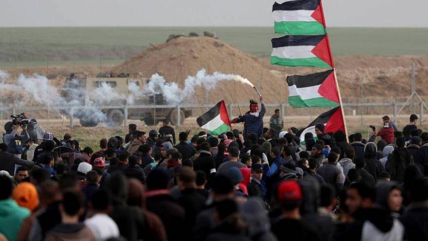 شهيد و30مصابا في قمع قوات الاحتلال لمسيرات غزة
