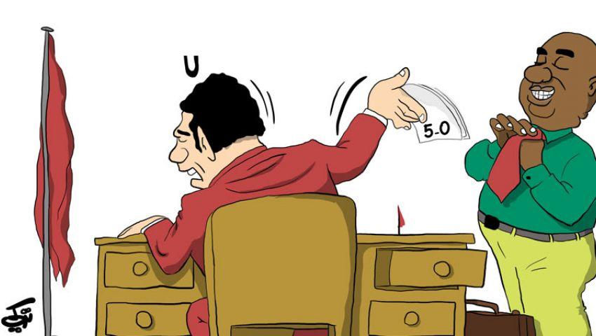 كاريكاتير : موسيماني مدرب الأهلي الجديد