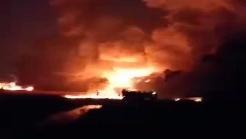 فيديو وصور| قتلى ومصابون وقطع للكهرباء.. تفاصيل انفجار خط الغاز بالبحيرة