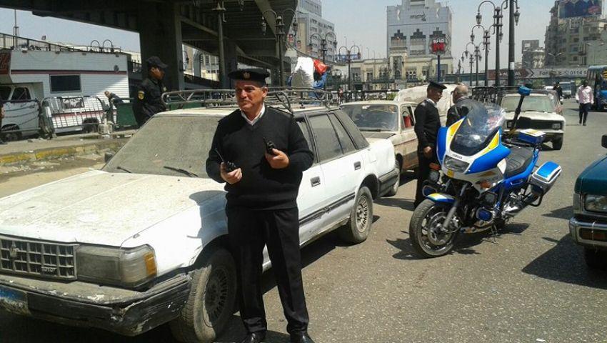 بالصور| حملات مرورية بالقاهرة والجيزة لتحقيق السيولة المرورية