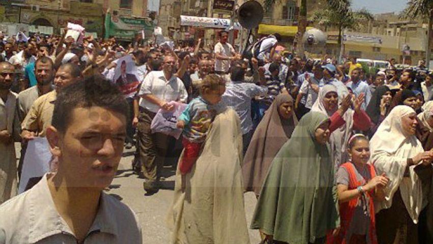 مؤيدو مرسي ببني سويف يشاركون في مليونية الزحف